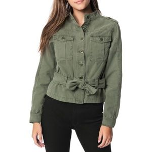 NWT Joe's Jeans Belted Utility Jacket Army Green